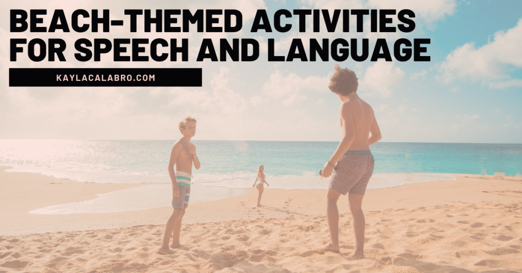 beach-themed activities for speech and language